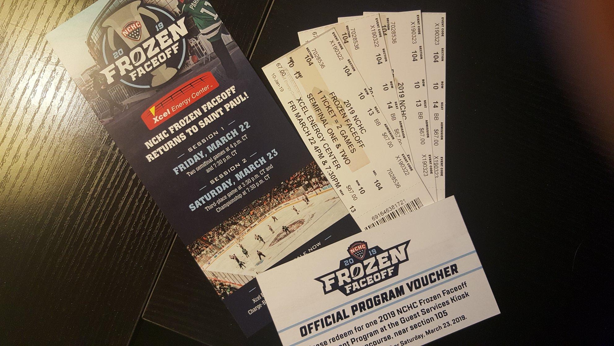 2 Frozen Faceoff tickets - all days - Tickets wanted / for
